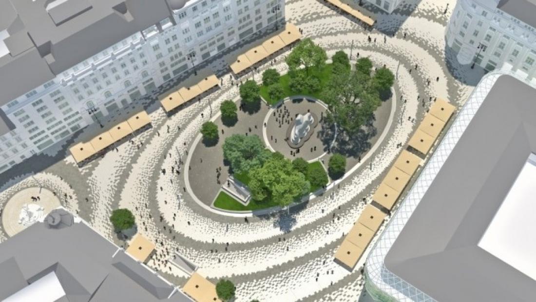 Ilyen lesz a felújított Vörösmarty és Podmaniczky tér